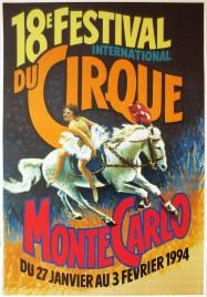 18e Festival International du Cirque de Monte-Carlo Circus poster - Monaco, 1994