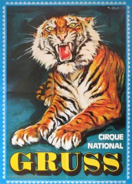 Cirque National Gruss Circus poster - France, 1973