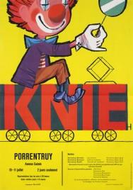 Circus Knie Circus poster - Switzerland, 1963