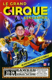 Le Grand Cirque Benjamins Circus poster - USA, 2019