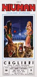 Circo Niuman Circus poster - Italy, 1976