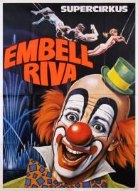 Supercirkus Embell Riva Circus poster - Italy, 1981
