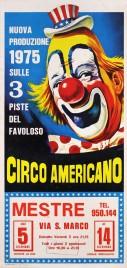 Circo Americano Circus poster - Italy, 1975