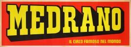 Circo Medrano Circus poster - Italy, 1975