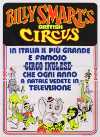 Billy Smart's Circus Circus poster - Italy, 1975