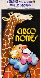 Circo Nones Circus poster - Italy, 1980