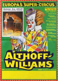 Circus Althoff-Williams Circus poster - Germany, 1978