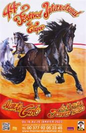 44e Festival International du Cirque de Monte-Carlo Circus poster - Monaco, 2020
