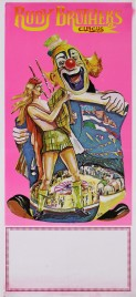 Rudy Brother's Circus Circus poster - Italy, 1986