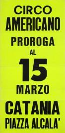Circo Americano Circus poster - Italy, 1972