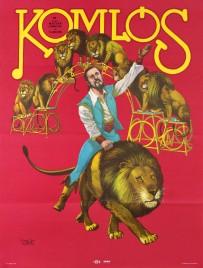 Komlós - Fovarosi Nagycirkusz Circus poster - Hungary, 1980