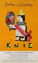 Circus Knie Circus poster - Switzerland, 1964