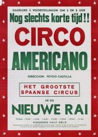 Circo Americano Circus poster - Spain, 1961