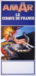 Cirque Amar Circus poster - France, 1978