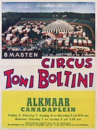 Circus Toni Boltini Circus poster - Netherlands, 1962