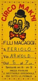 Circo Makni Circus poster - Italy, 1985