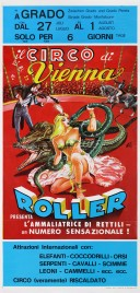 Il Circo di Vienna Roller Circus poster - Italy, 1976