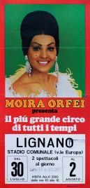 Circo Moira Orfei Circus poster - Italy, 1976