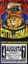 Circo Citta' di Roma Circus poster - Italy, 2012