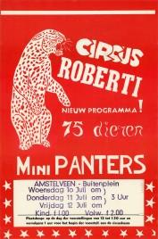 Circus Roberti Circus poster - Netherlands, 1968