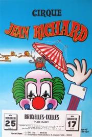 Cirque Jean Richard Circus poster - France, 1980