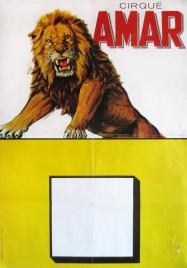 Cirque Amar Circus poster - France, 1969
