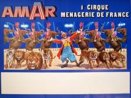 Cirque Amar Circus poster - France, 1977