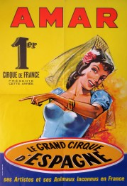 Cirque Amar Circus poster - France, 1964