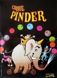 Cirque Pinder Circus poster - France, 1980