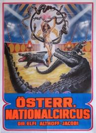 Österreichischer Nationalcircus Elfi Althoff-Jacobi Circus poster - Austria, 1990