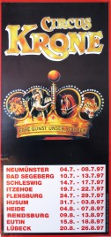 Circus Krone Circus poster - Germany, 1997