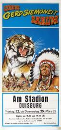 Circus Barum Circus poster - Germany, 1982