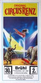 Original Circus Renz Circus poster - Germany, 1987