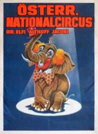 Österreichischer Nationalcircus Elfi Althoff-Jacobi Circus poster - Austria, 1992