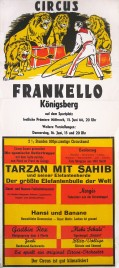 Circus Frankello Circus poster - Germany, 1966
