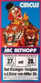 Circus Jac Althoff Circus poster - Germany, 1976