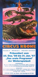 Circus Krone Circus poster - Germany, 1986
