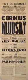 Cirkus Kludsky Circus poster - Czech Republic, 1936