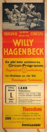 Circus Willy Hagenbeck Circus poster - Germany, 1962
