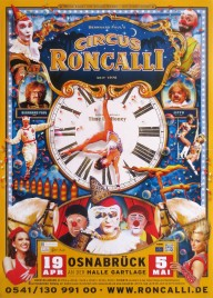 Circus Roncalli - Time Is Honey Circus poster - Germany, 2013