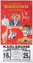 Circus Baronn Aldano Circus poster - Germany, 1996