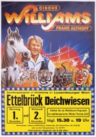 Circus Williams - Franz Althoff Circus poster - Germany, 1988