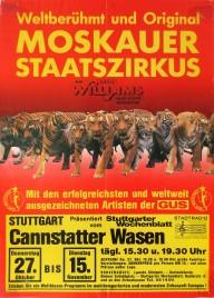 Moskauer Staatszirkus Circus poster - Germany, 1988