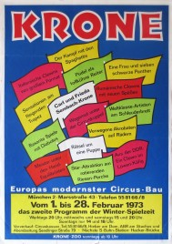 Circus Krone Circus poster - Germany, 1973