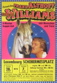 Circus Williams - Franz Althoff Circus poster - Germany, 1985