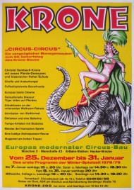 Circus Krone Circus poster - Germany, 1978