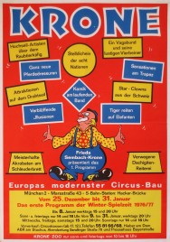 Circus Krone Circus poster - Germany, 1976