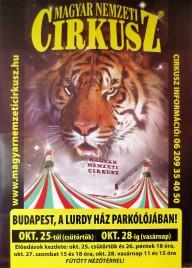 Magyar Nemzeti Circusz Circus poster - Hungary, 2012