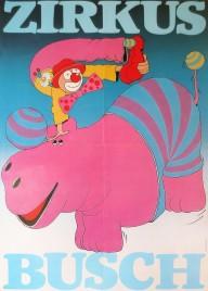 Zirkus Busch Circus poster - Germany, 1988