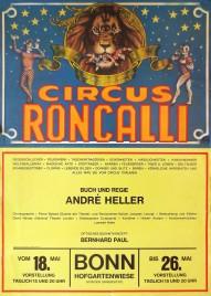 Circus Roncalli Circus poster - Germany, 1976